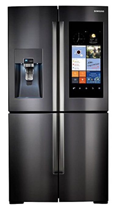 Samsung RF22K9581SG/RF22K9581SG/AA/RF22K9581SG/AA 22 Cu. Ft. Black Stainless 4 Door Family Hub Counter Depth Refrigerator