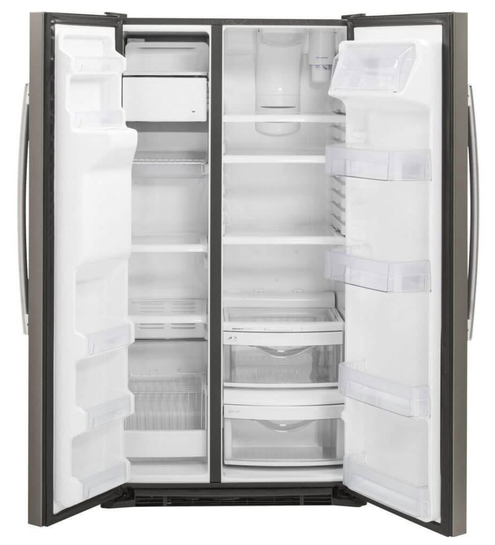 GE GZS22DMJES 21.9 Cu. Ft. Slate Counter Depth Side-by-Side Refrigerator