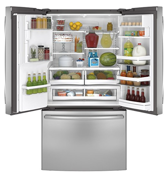 GE PFE28RSHSS Profile 27.7 Cu. Ft. Stainless Steel French Door Refrigerator - Energy Star